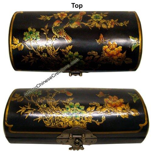 - Chinese Gifts/Chinese Folk Art: Chinese Wooden Jewelry Box - Birds & Flowers