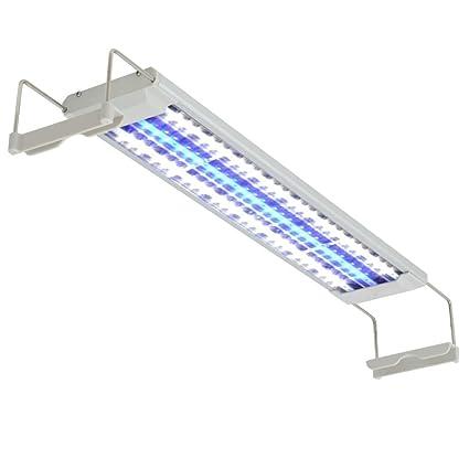 vidaXL Lámpara Luces LED para Acuario 50-60 cm de Aluminio Clasificacion IP67