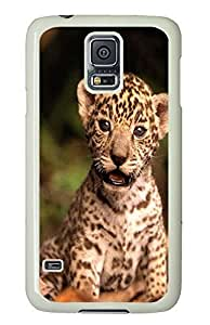 protective Samsung S5 covers Baby Cougar Animal PC White Custom Samsung Galaxy S5 Case Cover