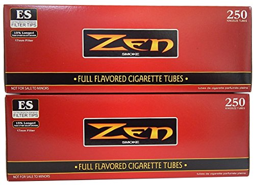 ZEN King Size Full Flavor Cigarette Tubes -2 pack, 250 ct per - Full Flavor Cigarette