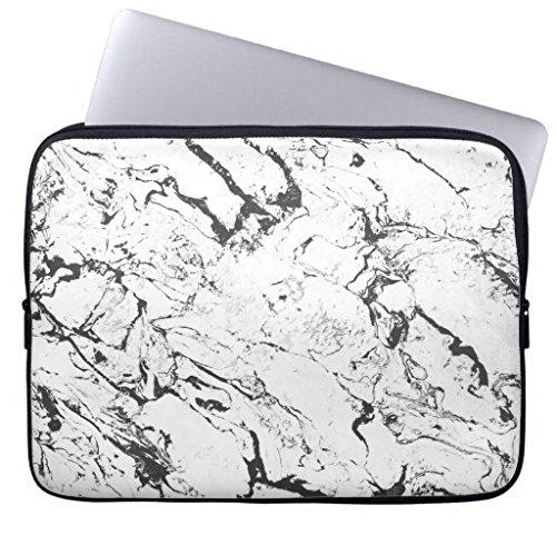 Modern black and white fashion marble pattern computer sleev