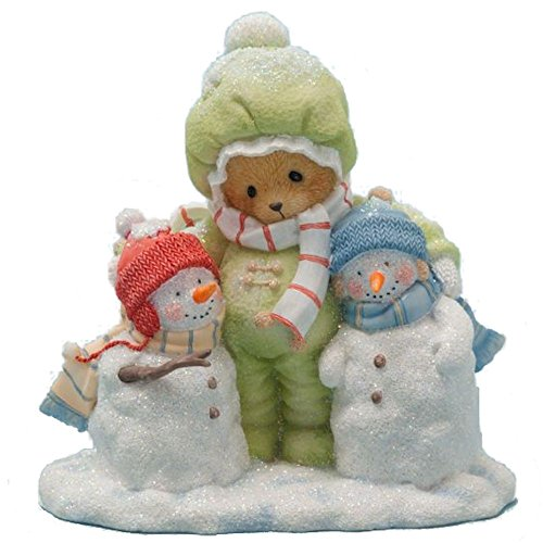 - Cherished Teddies Collection Bear Hugging Snowmen