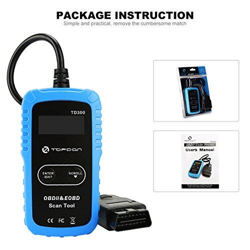 Topdon OBD2 DTC Code Reader, TD300 Escáner de herramienta de ...