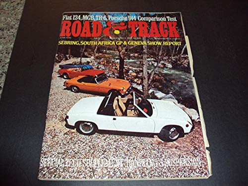 Road and Track June 1970 Tech Supplement: Handling and Suspension
