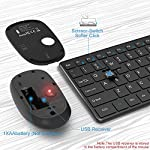 Wireless Keyboard and Mouse Combo, WisFox 2.4G Full-Size Slim Thin Wireless Keyboard Mouse for Windows, Computer…
