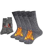NovForth Thick Thermal Socks for Men, Heated Heavy Warm Socks for Winter