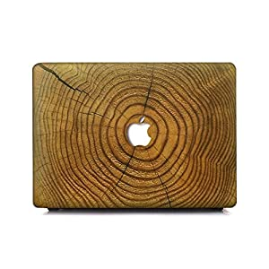 KEC MacBook Pro 13 Case 2017 & 2016 Plastic Hard Shell Cover A1706 / A1708 with/without Touch Bar (Checkered Wood)