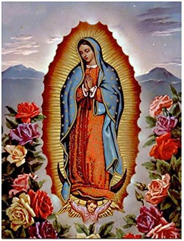ONETOTOP DIY Daimond Pintura 5D Regalo Completo de Diamantes Virgen Mar/ía Beb/é Flor Diamante Arte Rhinestone Punto de Cruz Mosaico Kit-58 80