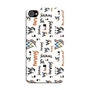 iphone 5c Protective Case,Fashion Popular Miami Marlins Designed iphone 5c Hard Case/Mlb Hard Case Cover Skin for iphone 5c