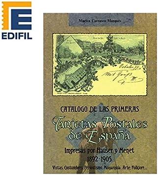 PRIMERAS Tarjetas Postales de ESPAÑA Impresas por Hauser y Menet (1802-1905). Martín Carrasco: Amazon.es: Juguetes y juegos
