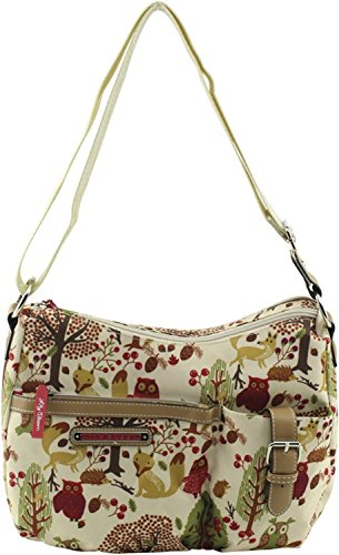 Lily Bloom Kathryn Crossbody Hobo Bag Forest Owl