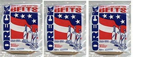 Oreck XL Genuine 3-pack Upright Vacuum Belts 0300604 (3 Packs = 9 Belts) Oreck Commercial