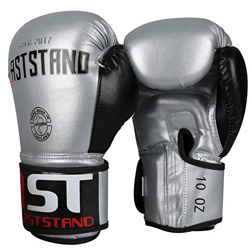 LASTSTAND Leather Boxing Gloves for Men Women, Kickboxing Sparring Punching Heavy Bag Gloves for Training, MMA, UFC…