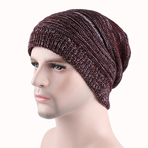 Warm Ski punto Slouchy Winter Knit Hat Men's Cap Cable Skull Beanie Thick Women's Zhhlaixing Gorros de Brown 6EwzX
