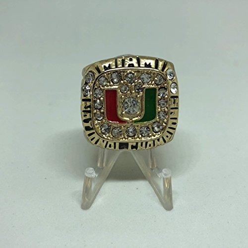 USA Shipper Gino Torretta Miami Hurricanes High Quality Replica 1991 Orange Bowl Championship Ring Size 10.5-Gold