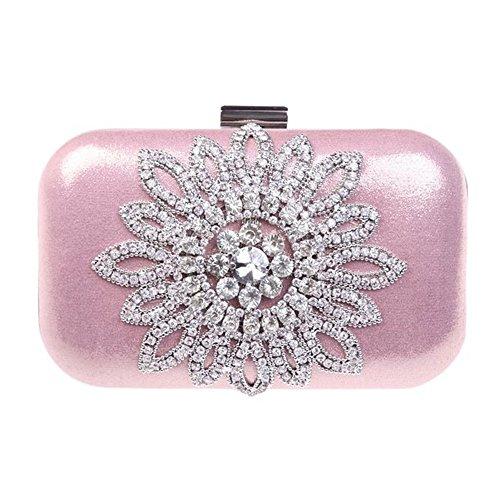 chirrupy Chief Crystal sol flor Monedero del embrague Cristal noche embrague bolsas rosa