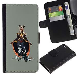 NEECELL GIFT forCITY // Billetera de cuero Caso Cubierta de protección Carcasa / Leather Wallet Case for Apple Iphone 4 / 4S // Emperador del Mal