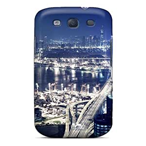 High Grade Royce Joel Cordova Flexible Tpu Case For Galaxy S3 - Panoramic View Of Hong Kong At Night The City