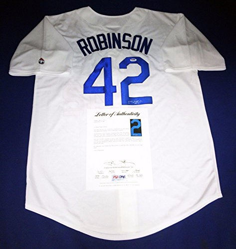 Harrison Ford Signed Los Angeles Dodgers Jackie Robinson Baseball Jersey - PSA/DNA Certified - Autographed MLB Jerseys
