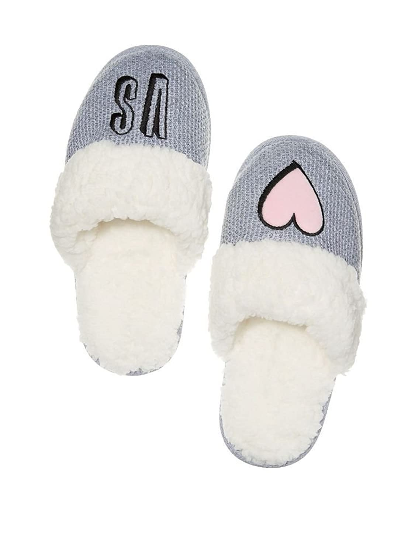 Amazon.com: Victoria\'s Secret Cozy Faux Fur Lining Gray Slipper: Shoes