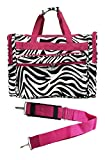 16-inch Travel Duffle Bag | Multiple Designs to Choose From | Perfect Travel Size Duffel Bag by Unique Traveler (Zebra-Pink Trim)