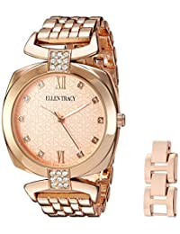 Ellen Tracy Women's ET5224RG Analog Display Analog Quartz Rose Gold Watch