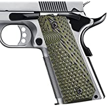 1911 Commander Grips Colt Full Size Government 1911 Grips, Eagle Wings Texturl G10 Material Ambi Safety Cut,fit Colt Kimber Rock Island Sig Sauer Smith&Wesson Springfield Armory Taurus and More