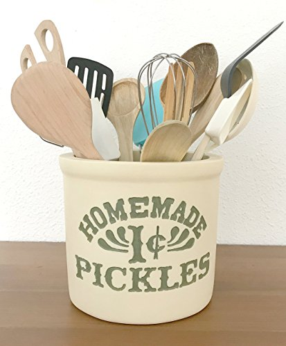 FRIENDS TV Show. Monica's kitchen. ♥ Utensils holder. 100% Handmade. Homemade 1 cent Pickles Jar. Kitchen Pot.