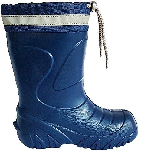 demar. Kinder Mädchen Jungen Gummistiefel Regenstiefel Gefüttert Blau