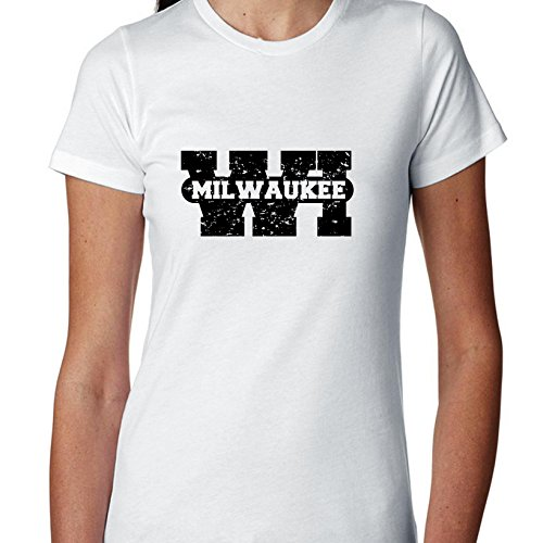 Milwaukee, Wisconsin WI Classic City State Sign Women's Cotton T-Shirt ()