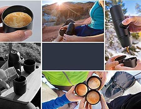 Edhua Mini máquina de café portátil,cafetera Manual para Viajes al Aire Libre (19.6 x 5.8 x 5.5cm): Amazon.es: Hogar