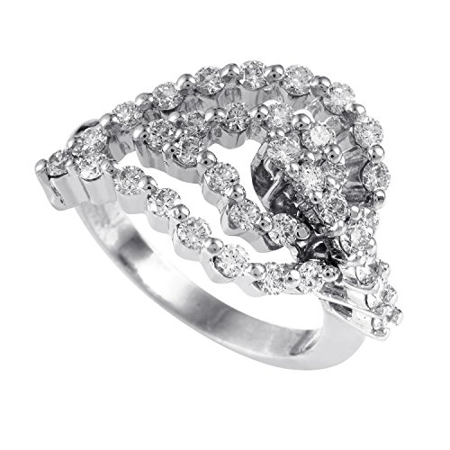 - Raima Women's 18K White Gold Diamond Leaf Ring 21832332