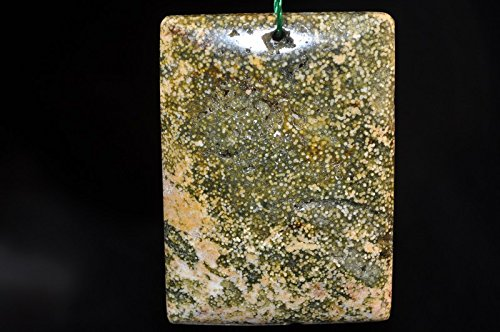 Beads Rectangle Ocean Jasper - • Bella-gems • 33x46x7mm