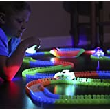 Fun Track 12ft of Bendable Glowing Raceway and car 5 LED Light up Car AS SEEN ON TV