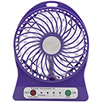 Mochiglory Battery Operated Rechargeable USB Mini Desktop Fans 3 Speeds Assorted Colors