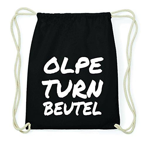 JOllify OLPE Hipster Turnbeutel Tasche Rucksack aus Baumwolle - Farbe: schwarz Design: Turnbeutel efwCpthQ