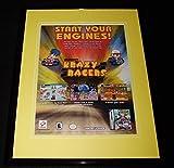 2001 Krazy Racers Game Boy Advance 11x14 Framed
