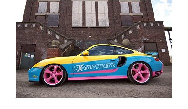 Classic tratamiento para dolores musculares de coche Ads para el coche y no pasa nada Chip Art de sintonización con manta-Porsche Turbo 996 (2002) diseño de ...