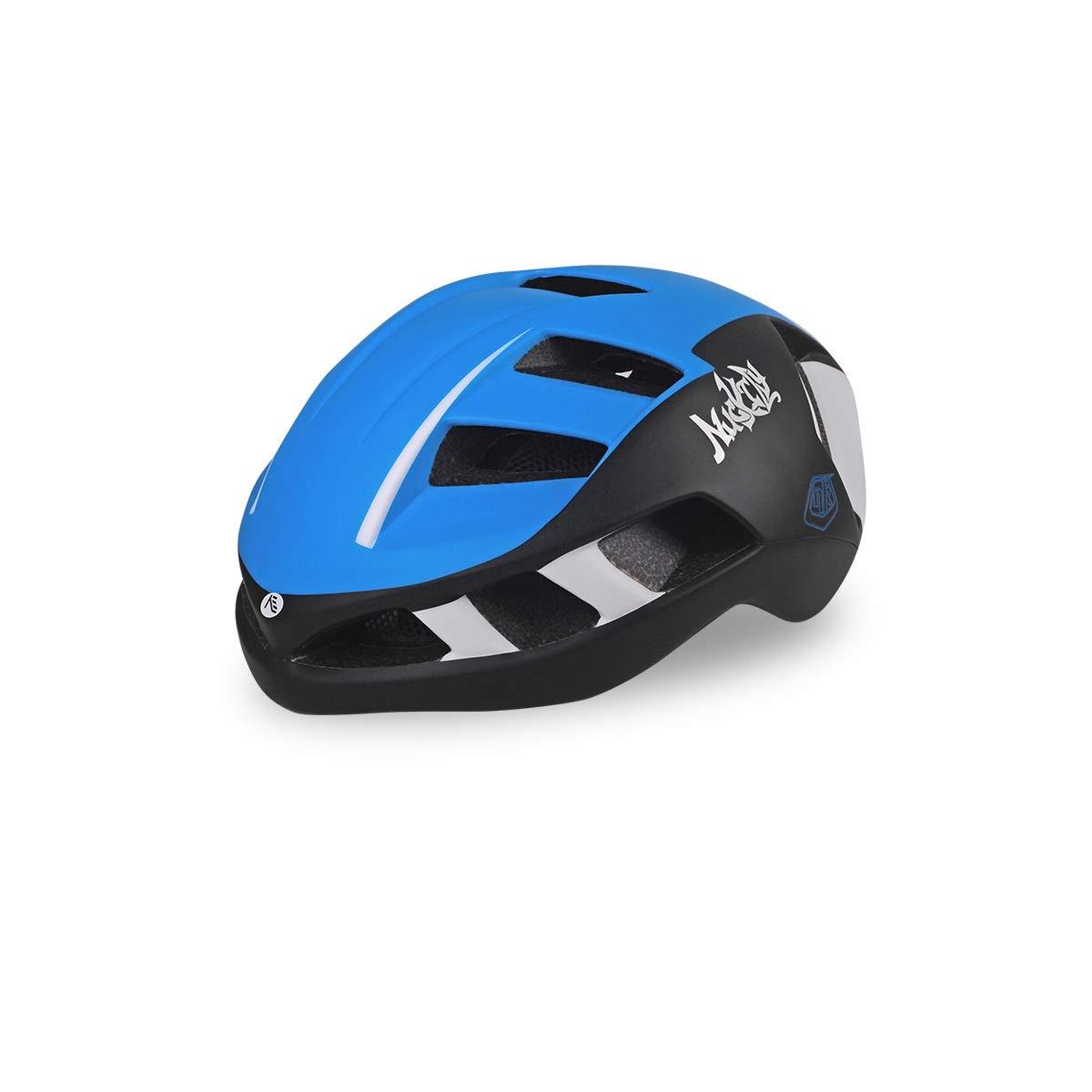 8hawoenju Bike Helmet with in-Molded Reinforcing Skeleton for Added Protection - Adult Size, Comfortable, Lightweight, Breathable (Color : Blue, Size : L)