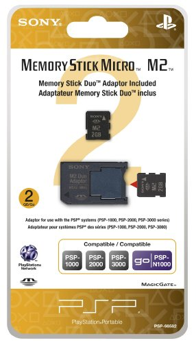- 2GB Memory Stick Micro Media + M2 Duo Adaptor - Sony PSP