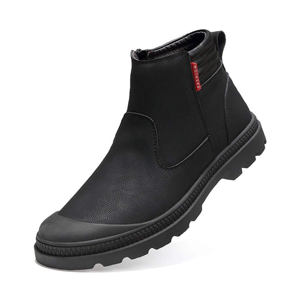 c9ad29eaeeaa0f Herren High Top Lederschuhe England Style Fashion Set Schuhe Männer  Rutschfeste Schnee Plus Samt warme Martin Stiefel  Amazon.de  Schuhe    Handtaschen