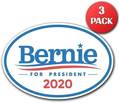 Adelia Co Aufkleber 16,5 x 11,4 cm Motiv Bernie Sanders f/ür den Presidenten 2020 USA Presidential Wahlkandidate GOP