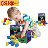 Image of ETI Toys - 19 Piece Shape Sorter Cube with Multiple Color Shapes for Sorting