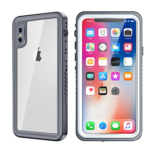 iPhone X/Xs Case, Eonfine Shockproof Waterproof Protective Case with Built-in Screen Protector for iPhone X/Xs 5.8 inch, Support Wireless Charging