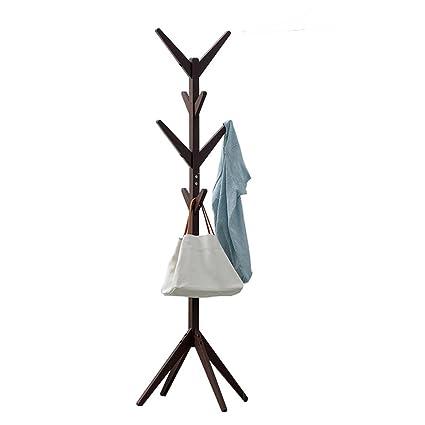 Amazon.com: XM ZfgG Solid Wood Tree Coat Rack Stand Free ...