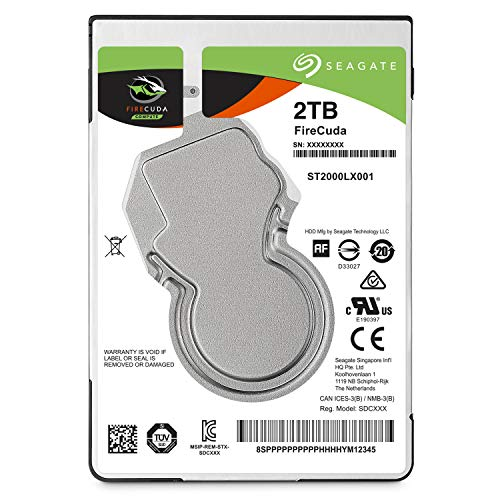 Seagate FireCuda Gaming (Compute) 2TB Solid State Hybrid Drive Performance SSHD - 2.5 Inch SATA 6GB/s Flash Accelerated for Gaming PC Laptop - Frustration Free Packaging (ST2000LX001)