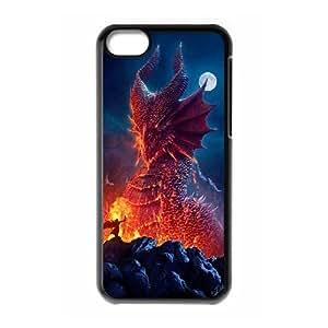 J-LV-F Print Dragon Pattern PC Hard Case for iPhone 5C