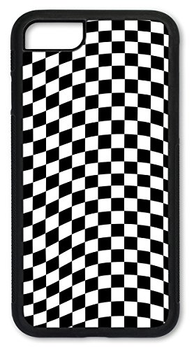 (iPhone 7 Case, iPhone 8 Case, Slim Fit Shell Hard Plastic Full Protective Cover Case for Apple iPhone 7 / iPhone 8 - Checkered Flag)