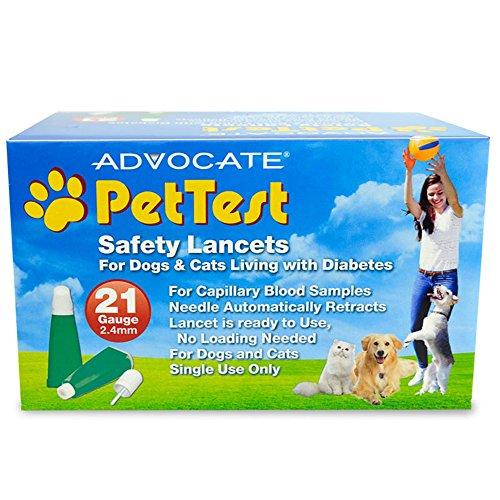 Advocate PHA00107 100 Piece Pet Test Safety Lancets, 21g x 2.4mm ()