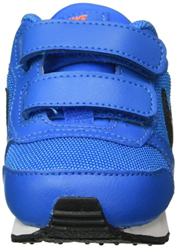 Nike MD Runner 2 (Tdv), Zapatos de Recién Nacido Unisex Bebé Azul (Photo Blue / Blk Ttl Orng White)